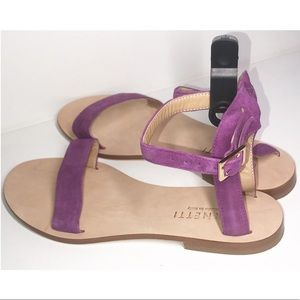 CORNETTI Fuchsia Suede Ankle Strap Sandals 8/39